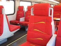Modern rail transit vehicle interior