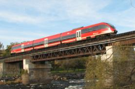 DMUs on the O-Train line in Ottawa